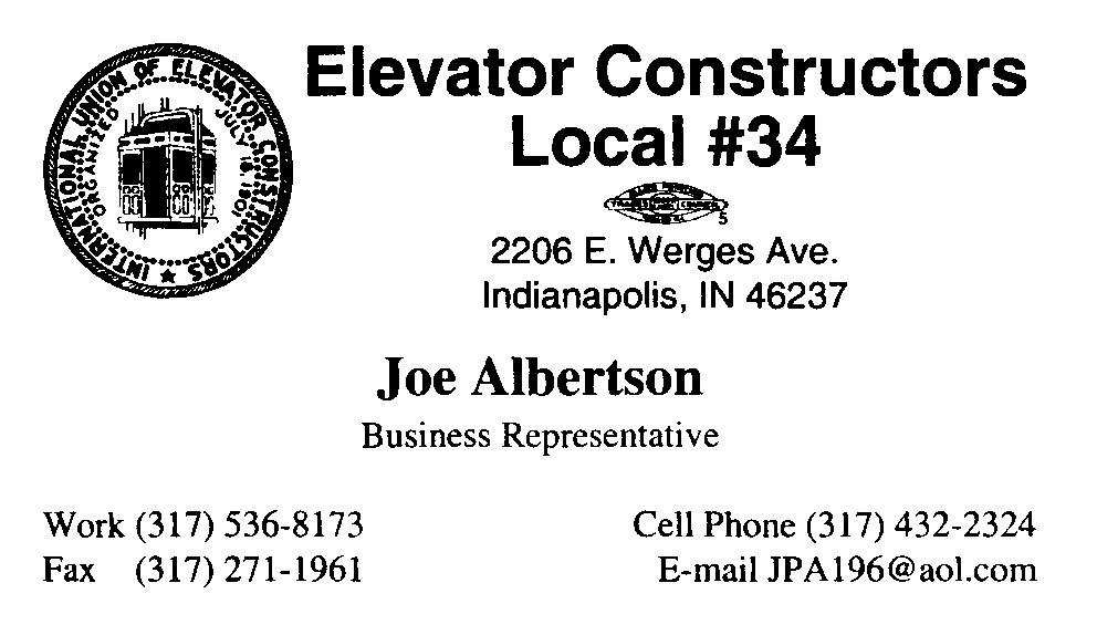 Elevator Constructors Local 34